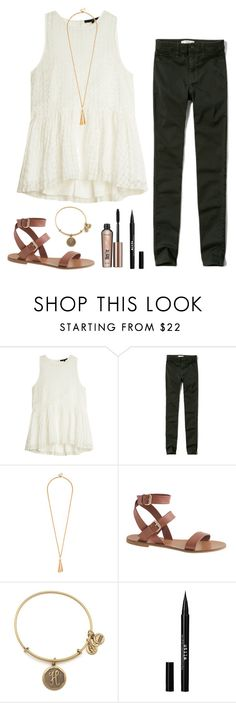 """outfit for orientation"" by hannahfortune00 ❤ liked on Polyvore featuring TIBI, Abercrombie & Fitch, J.Crew, Alex and Ani, Stila and Benefit"