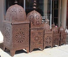 Moroccan outdoor lanterns by www.E-Mosaik.com, via Flickr