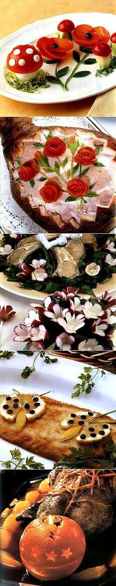 Украшение блюд: 7 простых приемов - Простые рецепты Овкусе.ру | Карвинг | Постила