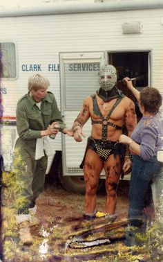 Production still from Mad Max Road Warrior.