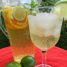 "Mr. Big's White Sangria | ""Super refreshing drink and perfect for summer parties."""