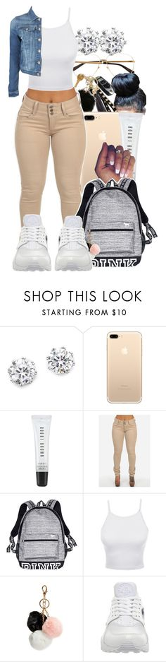 """Finna go back to school & get so many dress code violations😊(Pt.1)"" by pimpcessjayyy ❤ liked on Polyvore featuring Kenneth Jay Lane, Bobbi Brown Cosmetics, Victoria's Secret, LE3NO, GUESS, NIKE and Armani Jeans"