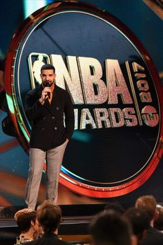 Drake Photos - Drake speaks on stage during the 2017 NBA Awards Live On TNT on June 26, 2017 in New York City. 27111_001 - 2017 NBA Awards Live On TNT - Inside