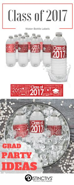 Fun way to bring that extra special touch to your red graduation party decorations and drink station.