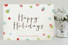Dotty Holiday Business Holiday Cards by Leslie Ann Jones at minted.com