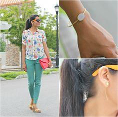 Jyoti from Style-Delights wears bombom Jewelry Lumi Bangle and Sexy Back Bloom Earrings