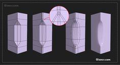 Esta es la segunda parte de referencia de como modelar detalles y subdividir polígonos, espero que sea de mucha utilidad...