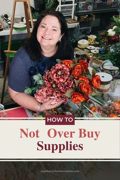 Buying supplies for your DIY Wreath projects can be overwhelming, especially if you do not have a solid plan.  We've all done it so please know that you are not the only one.  Check out this HOW - TO not overbuy supplies for tips on how to run your business like a professional when it comes to your supplies!