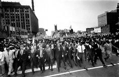 In commemoration of Martin Luther King Jr. Day and all who have fought for equality, here's a classic photo of the civil rights Freedom Parade down Woodward Ave on June 23, 1963. (The Detroit News)