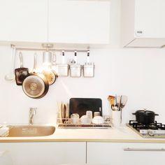 見せる収納/STAUB/IKEA/コンランショップ/無印良品/オープン収納…などのインテリア実例 - 2013-08-04 11:00:14 | RoomClip(ルームクリップ)