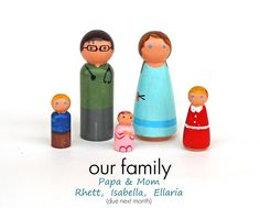 our family out of peg people for doll house this christmas