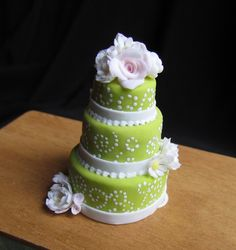 Miniature Dollhouse Food  Cake  Flowers by GoddessofChocolate