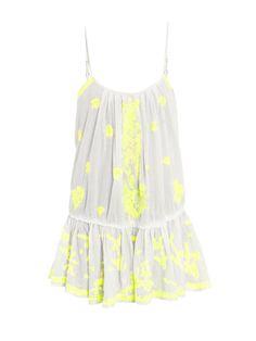 Neon embroidered dress | Juliet Dunn | MATCHESFASHION.COM