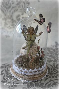 My Craft and Garden Tales: A fairy in a bell jar - with tutorial