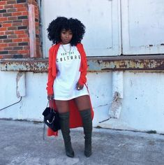 Black Girl Fashion Discover For the Culture T-shirt Dress T-shirt Dress Culture Travel Travel Gift Dress Culture Dress Dr Curvy Girl Fashion, Black Women Fashion, Look Fashion, Autumn Fashion, Womens Fashion, Fashion Night, Cheap Fashion, Black Women Style, Fashion Spring