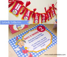 Printable Pinocchio Party Collection - Creative Little Parties