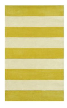 "The American Home Rug Company Beach Boardwalk Stripes Yellow Rug  2'6""x12' - Many other colors!  $202"