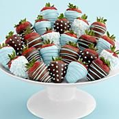 Boy Baby Shower Strawberries...even though I don't eat chocolate covered strawberries, these look cool