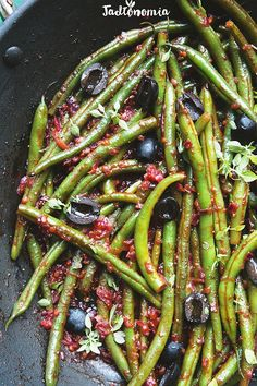 Vegan Recipes, Cooking Recipes, Eat Happy, Vegetable Pizza, Green Beans, Food Porn, Paleo, Food And Drink, Tasty
