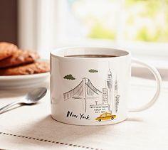 City State Mug, New York #potterybarn