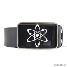Atom Molecule Belt Buckle