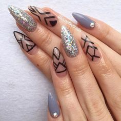✨Aztec Mania✨ By Jess! #nails #nailart #nailbar #nailedit #lovenails #loveeffect #loveeffectnails #goldcoastnails #goldcoastsalon #goldcoastbeauty #goldcoastnailbar #gcnails #gcbeauty #acrylicnails #gelpolish #swarovski #nailswithstyle #swan_nails #swarovskinails #glitter #glitternails #aztec #coolnails #sharpnails #longnails #thenaillife #thenailaddicts #aztecnails #nailswag