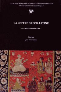 La lettre gréco-latine, un genre littéraire ? /   Collectif http://bu.univ-angers.fr/rechercher/description?notice=000818340