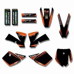 [ 37% OFF ] New Style Team Graphics&backgrounds Decal Stickers Kits For Ktm Sx 50Cc 50 For Ktm50 Pit Bike(Orange/black)