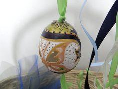 Czech Easter Egg PISANKI painted chicken by EasterEggsbyGOPA