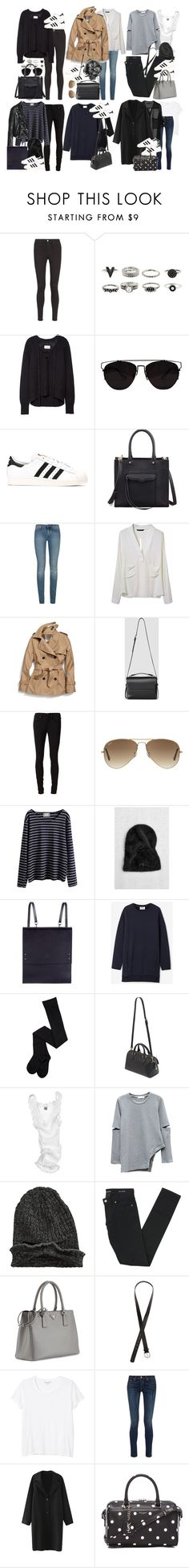 """""""Inspired fall post with superstar Adidas"""" by nikka-phillips ❤ liked on Polyvore featuring AG Adriano Goldschmied, Retrò, adidas, Rebecca Minkoff, Yves Saint Laurent, Coach, AllSaints, rag & bone/JEAN, Ray-Ban and Burberry"""