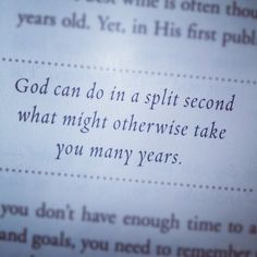 God is our greatest time saver. Take time to seek Him daily in Scripture and prayer.