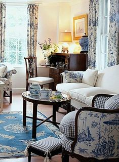 Cozy French Country Living Room Decor Ideas 49 French Country Home Decoratin French Living Rooms, French Country Bedrooms, Formal Living Rooms, Country French, French Country Curtains, French Cottage Style, Classic Living Room, Country Farmhouse, Farmhouse Decor