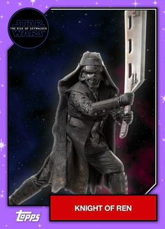 Star Wars – The Rise of Skywalker – Official Topps Trading Cards – Knights of Ren 3 Rey Star Wars, Finn Star Wars, Star Wars Kylo Ren, Star Trek, Ritter Von Ren, Knights Of Ren, Star Wars Personajes, Lando Calrissian, Star Wars Christmas