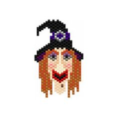 Witch Beaded Earring Pattern | Bead-Patterns.com