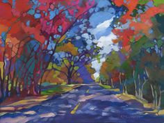 """The Long Way Home"" Richardson, Texas ~ KMSchmidt Landscape Paintings"