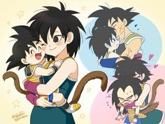 Gine loves her family Dragon Ball Z, Dragon Z, Akira, Manga Anime, Anime Art, Goku Pics, Kid Goku, Gamers Anime, Cute Dragons