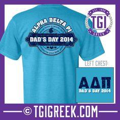 Alpha Delta Pi - TGI Greek - Comfort Colors - Greek T-shirts - #TGIGreek #AlphaDeltaPi #DadsDay