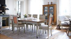 Haussmann Dining Table, ref.DP040 / Haussmann Chair, OA065 / Haussmann Display Cabinet, DW008 Style Français, French Style, Haussmann, Dining Room, Dining Table, Classic Interior, French Furniture, Home Decor, Simple