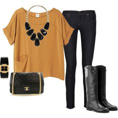 I love love blousy tops with skinny jeans and boots!  My Fall wardrobe!