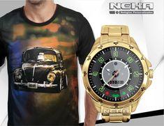 67e0f3c0cda kit relógio personalizado fusca + camiseta do fusca Neka.