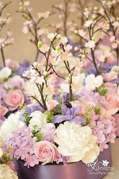 Gorgeous spring floral arrangement