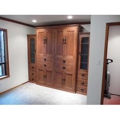 Queen Size American Craftsman In Oak Wood With Mission Finish