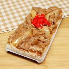 食品サンプル屋さんのスマホケース(iPhone6/6s:牛丼)【atelier cook】