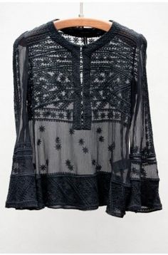 Noir Loria Top. I don't wear black, but if I do, this will do.