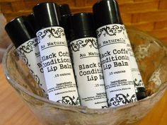Black Coffee Conditioning  Lip Balm         15 by aunaturelle, $3.25
