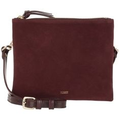 Closed Shoulder Bag - Velours Crossbody Bag Pinot Noir - in red -... (€265) ❤ liked on Polyvore featuring bags, handbags, shoulder bags, red, shoulder bag handbag, red crossbody purse, zipper purse, shoulder handbags and shoulder hand bags
