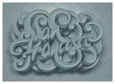 San Francisco Lettering by Marcelo Schultz, via Behance