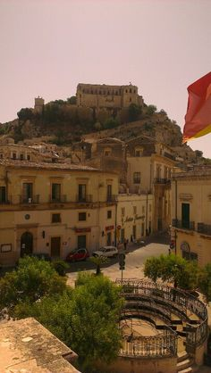 View from Montalbano's boss's office, Scicli, Sicily. www.ilpoggiodellecicale.it