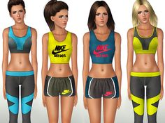 Stylish and colorful sport set by ShakeProductions - Sims 3 Downloads CC Caboodle