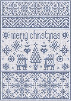 Kleine WeihnachtsSampler & Kostenlose Muster  von modernfolk, $7.00